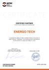 Сертификат партнера от компании HITEC